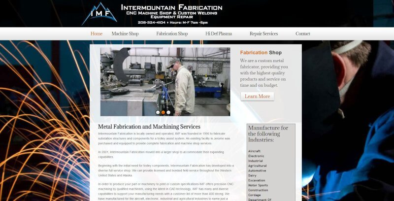 Intermountain fabrication website northwest web for 260 parkview terrace oakland ca